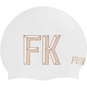 Funkita Seamless Silicon Swimming Cap 10 Pieces Women, stencilled white